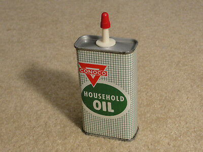 Vintage CONOCO Oil Co Household Oil can/tin plastic spout 510