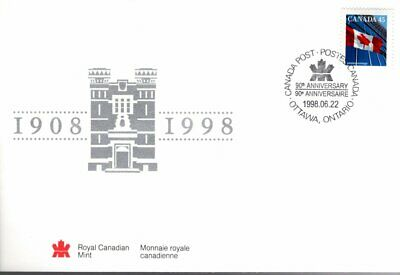 1998 S31 Royal Canadian Mint (1908-1998) Special Event cover
