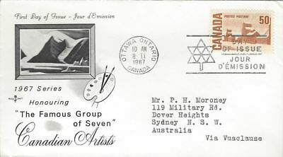 1967 Centennial Defin#465a Summer Stores FDC with Rose Craft cachet to Australia