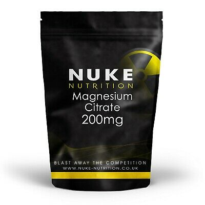 Magnesium Citrate Vegan Capsules 200mg 30% Elemental x 120 Tablets