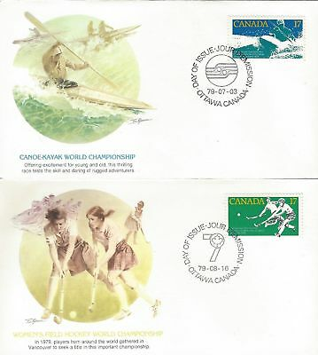 1979 #833-4 World Championships set of 2 FDC with Fleetwood cachet
