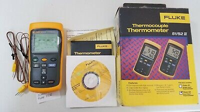 Fluke 52 II Dual-Input Digital Thermometer with one probe TP# 239443
