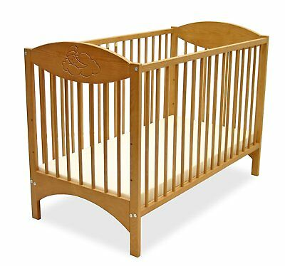 Grapi Oliver Cot Bed (Beech) EXDISPLAY
