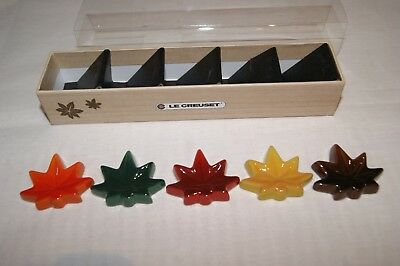 Le Creuset Stoneware Set of 5 Chopsticks Rest - Autumn Maple Leaf