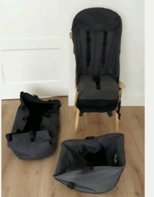 Bugaboo cameleon  bassinet , Seat, and free basket and hood rods
