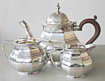Vintage sterling silver tea set hallmarked 1915 Asprey, London