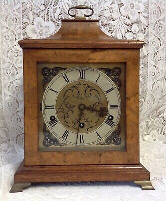 Qualty Antique Mappin & Webb Westminster Chimes Walnut Bracket Mantel Clock, Vgc