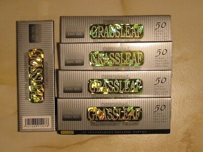 5 x Grassleaf Ultra Thin King Size Transparent Yellow rolling papers