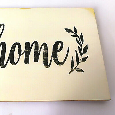 Large Rustic Wood horizontal Porch Sign Home Sweet Home Primitive Distressed