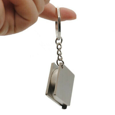 Creative Design Metal Multi-functional Key Chain Measure Ruler Tape Key Ring