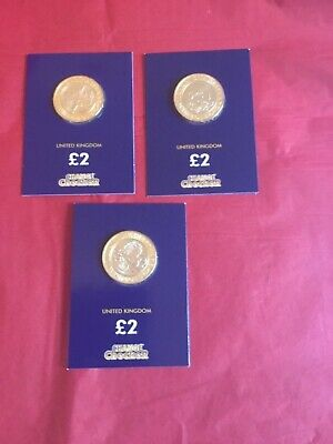 2016 Shakespeare £2 pound coin set - Uncirculated in Change Checker cards