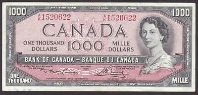 1954 Bank of Canada $1000 banknote Lawson Bouey A/K1520622 nice very fine++