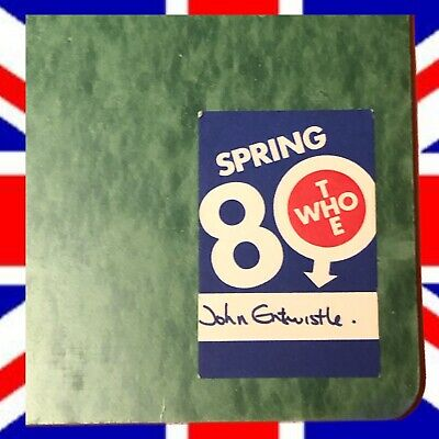The Who 1980 Spring Tour John Entwistle's Personal Itinerary with Stamped COA