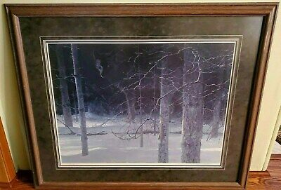 Robert Bateman Midnight Black Wolf Limited Edition Framed numbered signed print