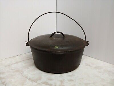 VINTAGE CAST IRON 2 QT Made in USA Small Kettle Cooking Pot - $16 99