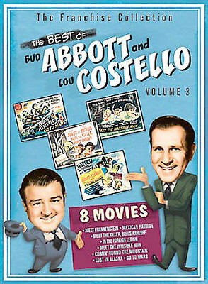 The Best of Bud Abbott Lou Costello Volume 3 DVD 2-Disc NEW Factory Sealed