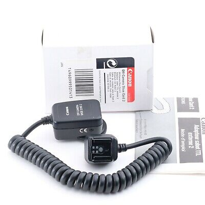 """""""Boxed Near Mint"""" Canon Off-camera Shoe Cord 2 for EOS Shipping from Japan"""