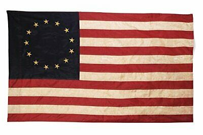 Primitive American 13 Star Betsy Ross Flag 3 ft x 5 ft Nylon Antique Look Flag