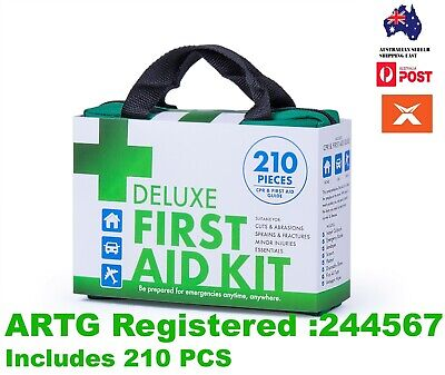 210 PCS Emergency First Aid Kit Medical Travel Set Camping Hiking Sport Safety