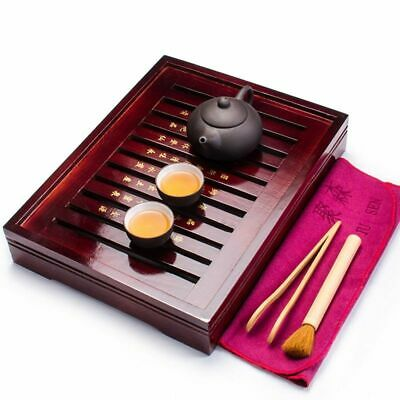 Ceramic Tea Cups Set Kung Fu Infuser Solid Wood Tray Teapot Drinkware Chinese