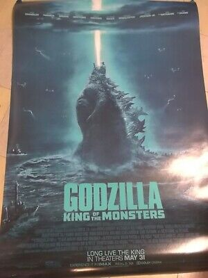"""Godzilla King of the Monsters Original Double-Sided 27"""" X 40"""" 2019 MOVIE POSTER"""