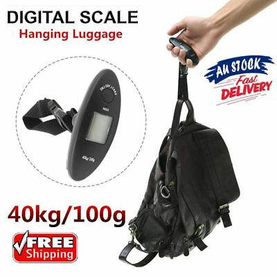 40kg/100g Portable Digital Hanging Luggage Electronic Scale + Starp Backlight E0