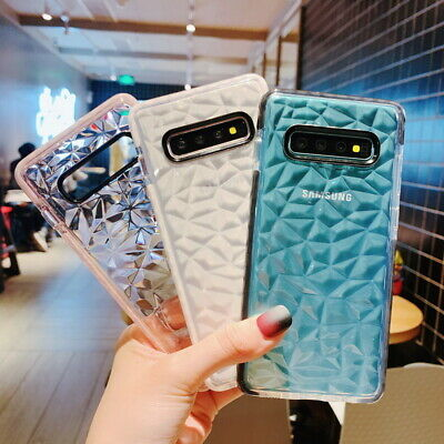 For Samsung Galaxy Note 10+ S9 S10 A50 Crystal Thin Rubber Clear Soft Case Cover