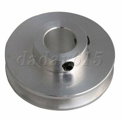 AL Alloy V Groove Drive Step Pulley 12mm Dia Bore for 3-5mm Round Belt