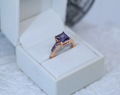 Vintage Art Deco Jewellery Ring With Amethyst Antique Deco Jewelry P 8