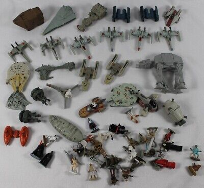 STAR WARS Micro Machines Lot 1993-1996 Ships People Star Destroyer AT-AT X-Wing
