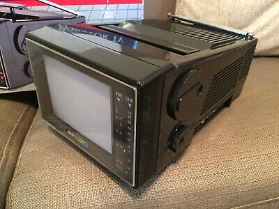 "Vintage Alaron Rhapsody TV-670 Portable 5"" Color TV In Box CRT - Travelvision"