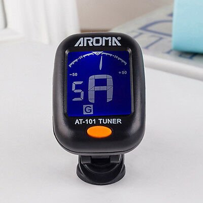 Electric Tuner Lcd Clip On Chromatic Acoustic Electric Bass Ukulele Banjo Guitar