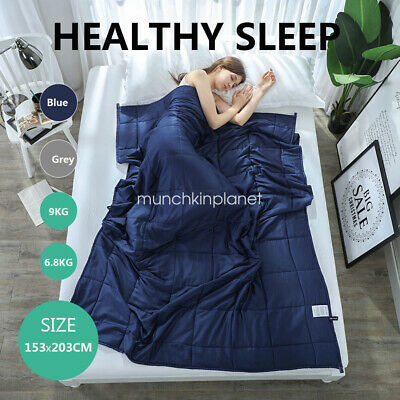 Weighted Blanket Heavy Gravity Giselle Bedding 7KG/9KG Cotton  Blue&Grey