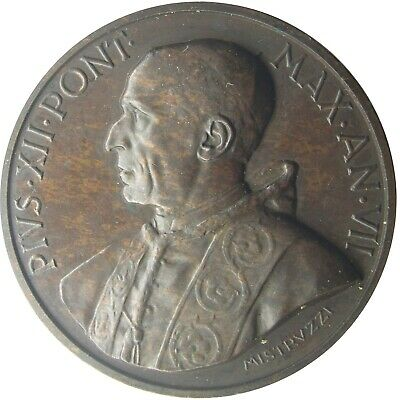 MEDAL - Pope Pius XII - Year VII 1945 - Pope Apostle of Charity - bronze - UNC