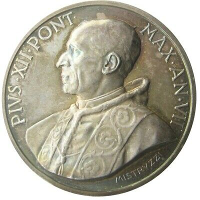 MEDAL - Pope Pius XII - Year VII of 1945 - Pope Apostle of Charity - Silver  UNC
