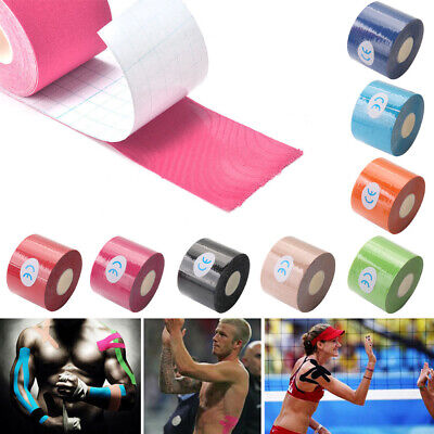 5M Athletic Muscle Tape Kinesiology Physio Strapping Sport Body Knee Breathable