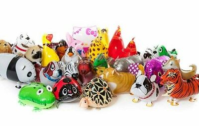 Walking pet animals balloons x 30  wholesale mixed joblot party pack