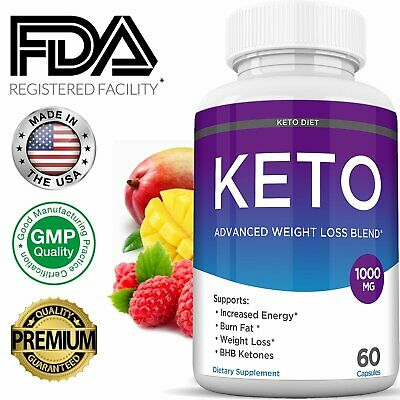 Keto Diet BURN Pills 1000 MG Best Ketosis Weight Loss Fat Burner Supplement