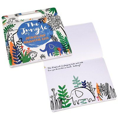 Rex London JUNGLE COLOURING AND ACTIVITY BOOK