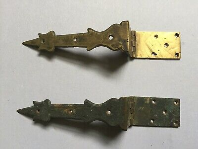 A Good Pair Of 18Th Century Longcase/Grandfather Clock Trunk Door Hinges/Straps