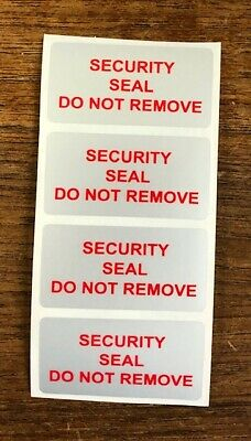 Tamper Evident Security Seal Do Not Remove Labels (Stickers) 25mm x 50mm