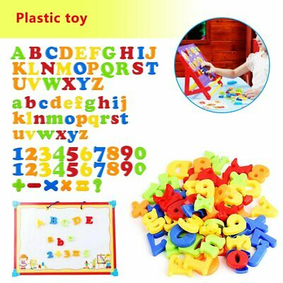 78PCS Magnetic Numbers Letters Alphabet Learning Toy Fridge Magnets Xmas gift PQ