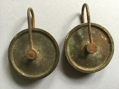 A Pair Of 8 Day Longcase/Grandfather Clock Weight Pulleys C.a.1830  (No.3)