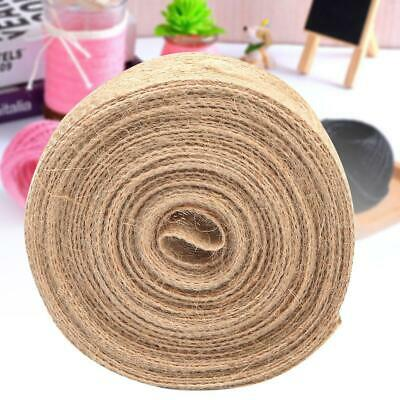 10m/roll 2.5cm Burlap Natural Jute Fabric Hessian Ribbon Wedding Party Decor DIY