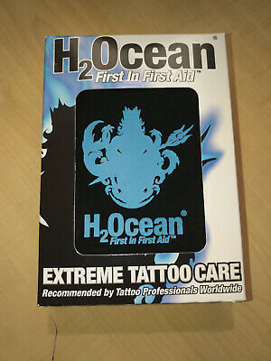 H2Ocean Extreme Tattoo Care Kit Aftercare first aid - Aquatat, Cream Lotion,Soap