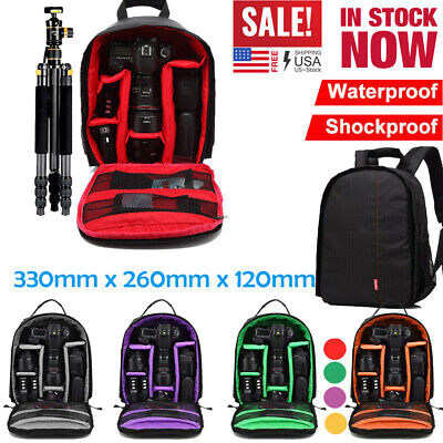 Waterproof  DSLR  Shockproof Camera Backpack Bag Case For Canon Sony Nikon