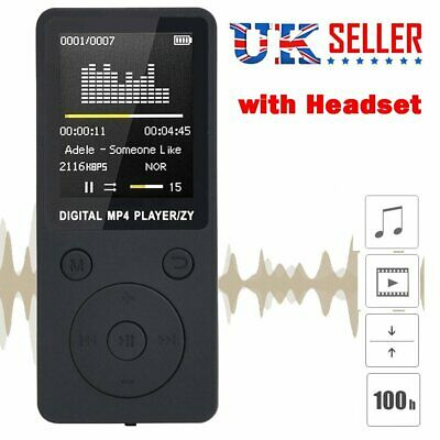 NEW! UK Mini MP3 Music Player with FM Hi-Fi Lossless Support 128GB Portable LCD