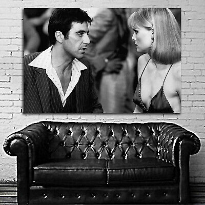 #90 Scarface Poster Movie Gangster Mafia Hollywood 40x100 inch More Sizes Large
