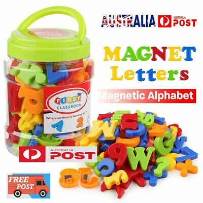 78PCS Magnetic Numbers Letters Alphabet Learning Toy Fridge Magnets Xmas gift MN