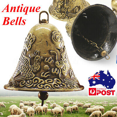 Copper Bell Antique Wind Chime Sound Loud Sheep Dog Cow Bells Yard Farm